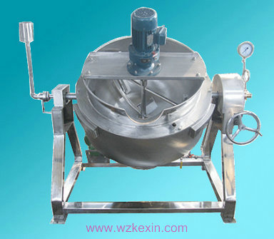 可倾式电加热夹层锅(带搅拌)