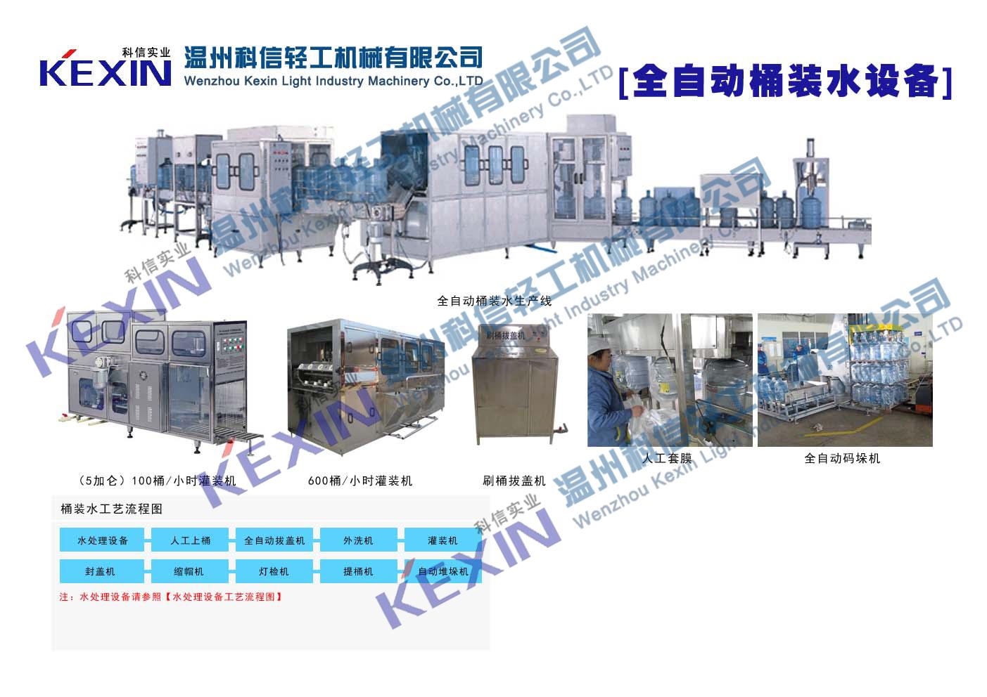 科信桶装水生产线