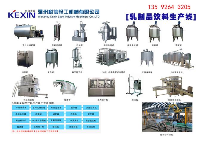 厂家工艺全自动豆奶生产线设备每小时2000瓶豆奶灌装包装设备